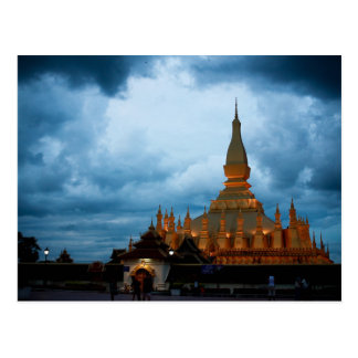 Postcard Pha That Luang, Vientiane, Laos