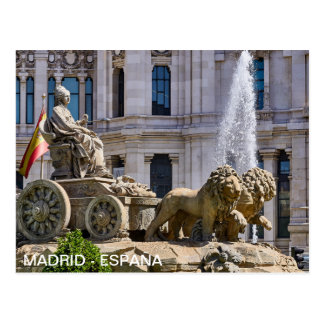 postcard Plaza Cibeles in Madrid