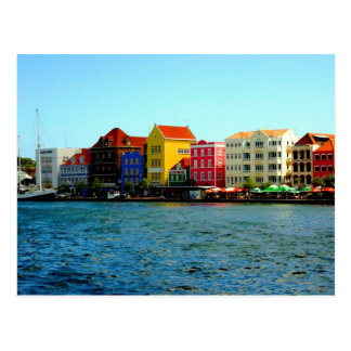 Postcard Port of Willemstad Curacao