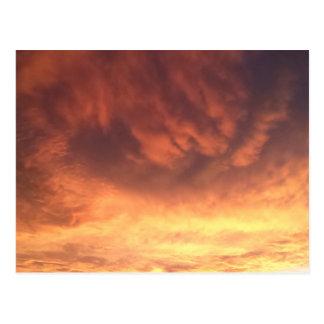 Postcard Raging Sunset