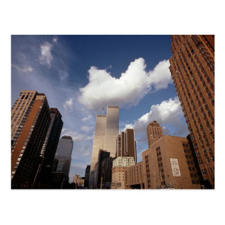 Postcard Reflection Image of WTC Twin Towers NYC