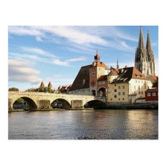 Postcard Regensburg in Bavaria, Germany