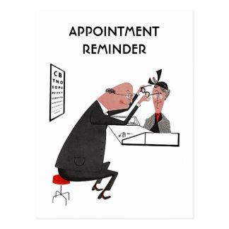 Postcard Retro Appointment Reminder Optometrist