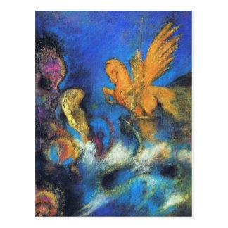 Postcard:  Roger & Angelica 2 by Odilon Redon Postcard