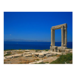 Postcard Ruins from Temple off Apollo one Naxos