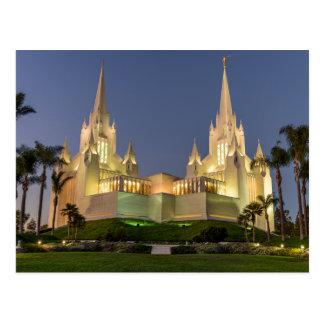 Postcard: San Diego LDS Temple Evening image Postcard