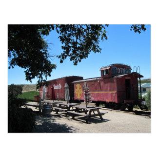 Postcard: Santa Fe Train Cars at Pomar Junction Postcard