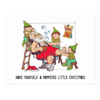 "POSTCARD Santa ""Pampered little Christmas"""