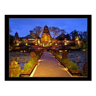 Postcard Saraswati Temple, Ubud Bali Indonesia