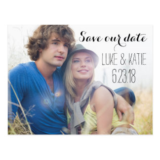 POSTCARD SAVE the DATE Photo Modern Save Our Date