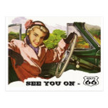 Postcard See You On Route 66 - Retro Road Trip PC