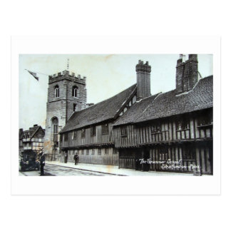 Postcard, Stratford-upon-Avon, Grammar School Postcard