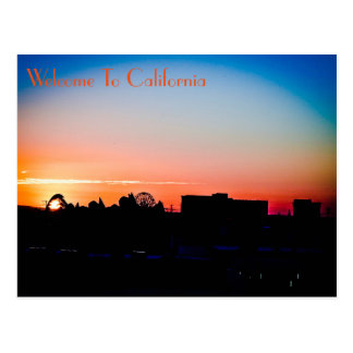 Postcard Sunset Anaheim