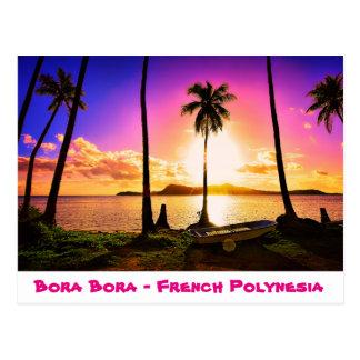 Postcard Sunset on Bora Bora, French Polynesia
