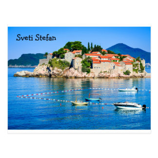Postcard  Sveti Stefan Budva Montenegro