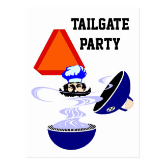 Postcard Tailgate Party Invitation Grill Slow Move