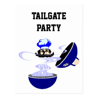 Postcard Tailgate Party Invitations Cookout Grill