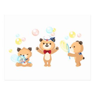 Postcard -- Teddy Bears