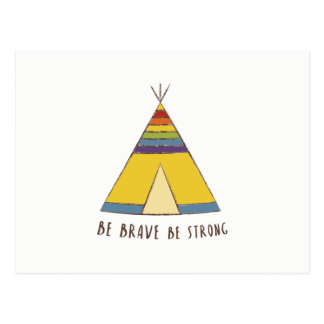 Postcard | Teepee | Rainbow colours