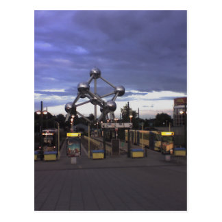 Postcard The Atomium in Brussels, Belgium