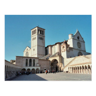Postcard The Basilica off Assisi, Umbria Italy