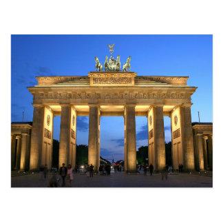 Postcard The Brandenburg Spoils in Berlin, Germany
