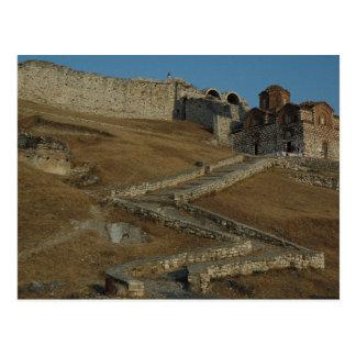 Postcard The Citadel Off Berat (fan-in), Albania