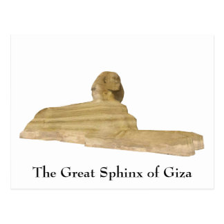 Postcard: The Great Sphinx of Giza Postcard