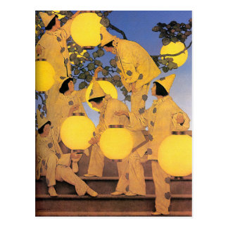 Postcard: The Lantern Bearers - Maxfield Parrish Postcard