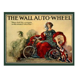 Postcard:  The Wall Auto Wheel