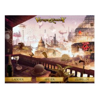 Postcard Travels to Fantasy - SteamPunk City