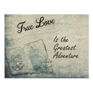 Postcard True Love Is the Greatest Adventure