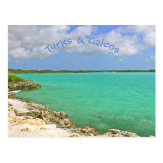 POSTCARD/TURKS AND CAICOS/BLUE SKIES/EMERALD WATER POSTCARD