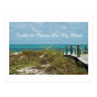 postcard/TURKS AND CAICOS ON MY MIND/SEASCAPE Postcard