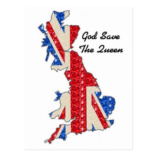 Postcard UK Flag God Save The Queen
