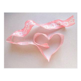 "POSTCARD ""Valentine Ribbons"""