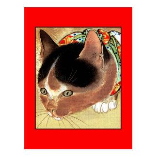"Postcard: Vintage Cat Art: ""Curious Kitty Cat"" Postcard"