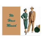 Postcard Vintage Couple Moved New Address PC