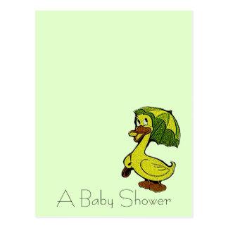 Postcard Vintage Cute Ducky Shower Announcements