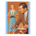 Postcard Vintage Fondue Party Festive Open House