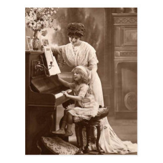 Postcard-Vintage Music Teacher Postcard