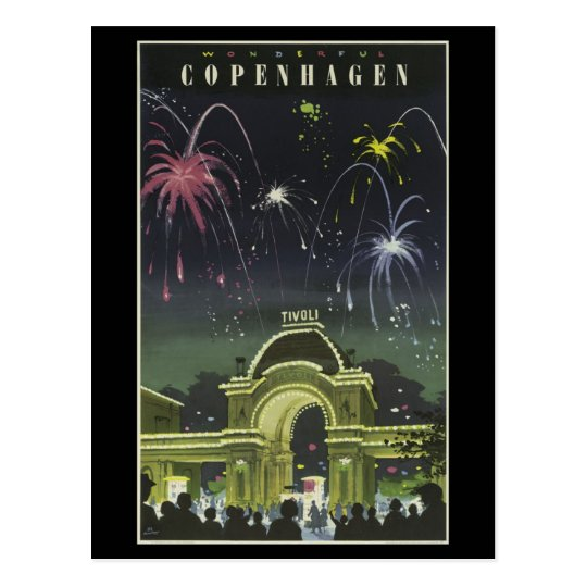Postcard-Vintage Travel-Copenhagen Postcard