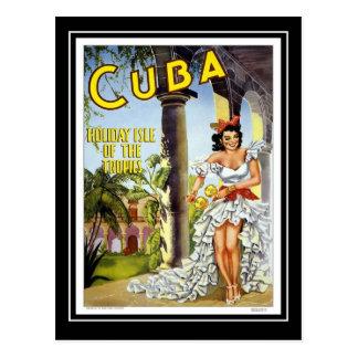 Postcard Vintage Travel Cuba