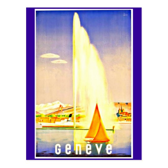 Postcard-Vintage Travel-Geneva Postcard