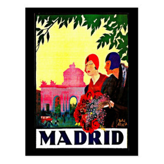 Postcard-Vintage Travel-Madrid