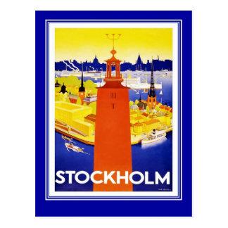 Postcard Vintage Travel Stockholm