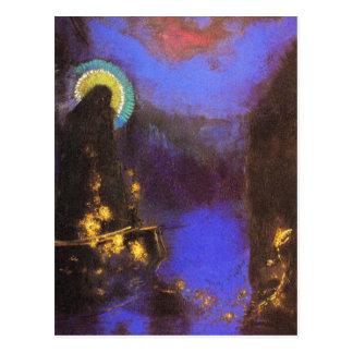 Postcard:  Virgin with Corona- Symbolist Painting Postcard
