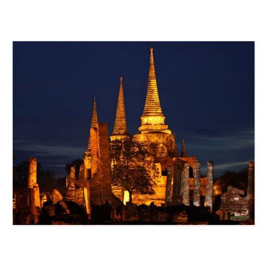 Postcard Wat Phra So in Ayutthaya Thailand