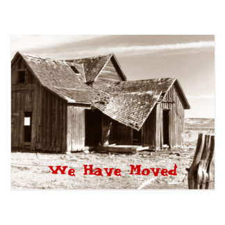 Postcard We Have Moved Ramshackle Shack Home House