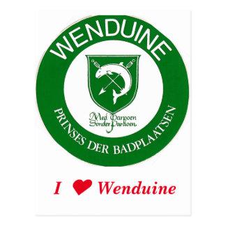 Postcard Wenduine weapon shield